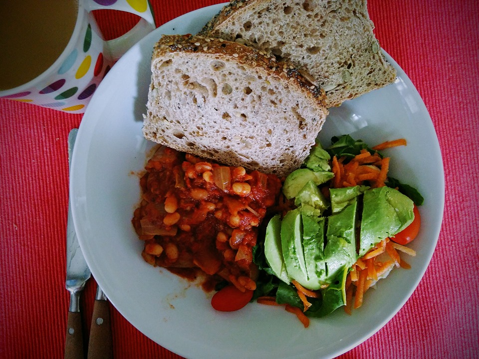 Healthy home-made baked beans