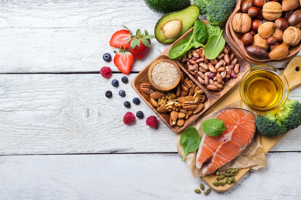 A range of healthy fats